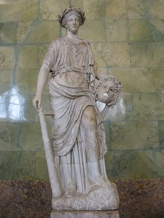 Melpomene, muse of tragedy.  Roman, after Greek model of 2nd century BC. Marble. Hermitage Museum, St Petersburg