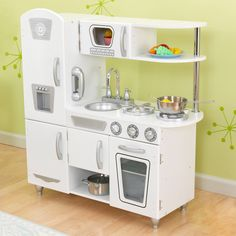 KidKraft White Vintage Kitchen | Overstock™ Shopping - Big Discounts on KidKraft Kitchens & Play Food