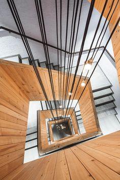 Appartementhaus Fuxbau Stuben | Atelier Ender | Architektur Lokal, Hand Fan, Diffuser, Home Appliances, Atelier, Roof Trusses, Birthing Center, Driveway Entrance, Ground Floor