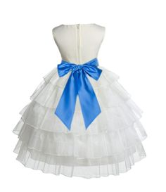 Ivory Tired Organza Flower Girl Dress Formal Wear Special Occasions Wedding Beauty Pageant 308s3