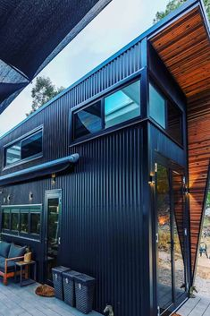 44 Must See Shipping Container Homes - House Topics Container House Plans, Container House Design, Tiny House Design, Container Buildings, Container Architecture, Architecture Design, Shipping Container Homes, Tiny House Plans, Modular Homes