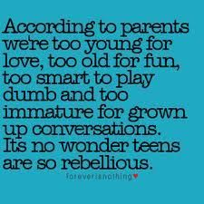 "True. Especially older parents that refuse to accept that times are changing. They always come for you for wearing ripped jeans and cropped tops and iPhones. I'm over here like: ""if you had these things growing up then you'd be obsessed with them too so don't lie."""
