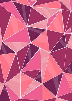 Pattern, pink Art Print