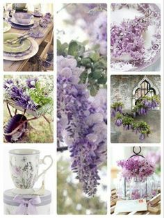 Purple Lilac, Shades Of Purple, Purple Flowers, Beautiful Collage, Beautiful Flowers, Color Collage, Flower Garden Design, Pallet Painting, Color Harmony