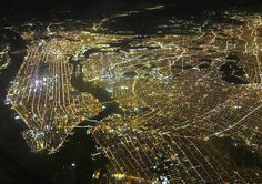 A wonderful photograph captures the staggering lights of America's biggest city at night.