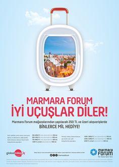 Marmara Forum Global Miles Kampanya Posteri Graphic Design, Visual Communication