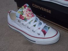 Hey, I found this really awesome Etsy listing at https://www.etsy.com/listing/184212772/pink-floral-converse-shoes