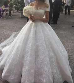 Off the Shoulder Ball Gown Wedding Bridal Dresses ,Vestidos de Novia BDS0338 #weddinggowns