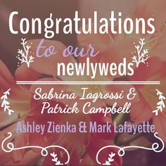 Congratulations to our newlyweds Sabrina Iagrossi & Patrick Campbell, Ashley Zienka & Mark Lafayette! Check out our wedding services at: http://www.ariabanquets.com/