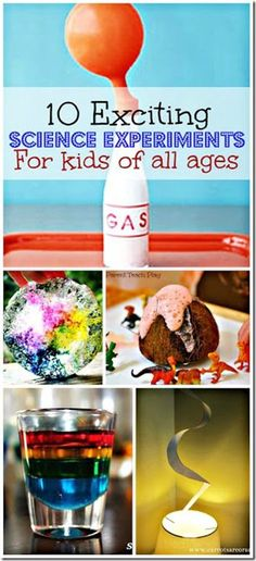 10 Exciting Science Experiments for Kids - a weeks worth of fun, clever science projects perfect for summer activities for kids.