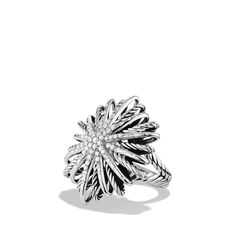 Starburst Ring with Diamonds                     David Yurman .52 CT 30mm 1995 US