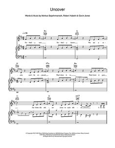 Zara Larsson: Uncover sheet music partition