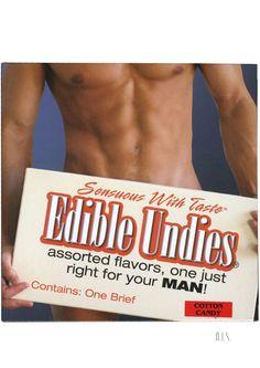 Edible Undies Male Cotton Cndy - The Original Edible Undies! The edible, lickable brief. Sensuous with taste! Contains one edible brief.