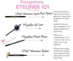 Drugstore Eyeliner 101-everything you need to know about drugstore eyeliners! xo