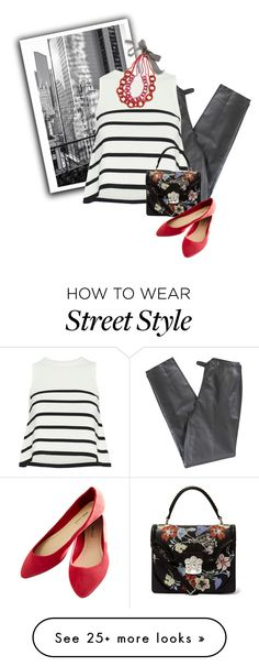 """""""Street style"""" by janemichaud-ipod on Polyvore featuring Lafayette 148 New York, Cardigan, Alexander McQueen, Wet Seal and Trina Turk"""