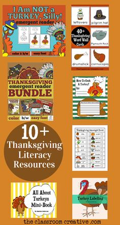 In need of a Thanksgiving literacy activity? Here are 10+ ideas!