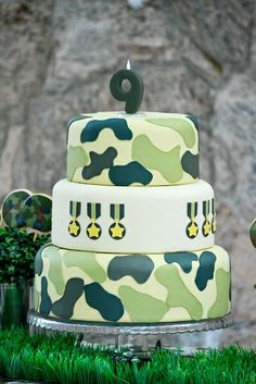 Cake at an Army Cake #armyparty #cake