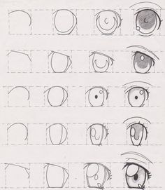 New Ideas Eye Tutorial Anime Drawing Reference Drawing Lessons, Drawing Tips, Drawing Reference, Pose Reference, Drawing Ideas, Drawing Drawing, Art Lessons, How To Draw Anime Eyes, Manga Eyes