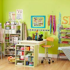 Maximize your creative space using these ideas for storing your stash, tools,  and supplies in style!