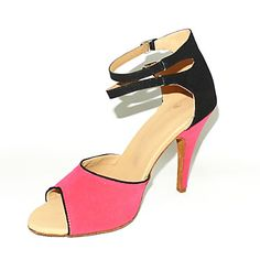 BLACK & PINK Customized Women's Suede Upper Dance Shoes – GBP £ 24.35