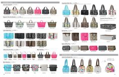 All my favorite Thirty-One Products.  These are the best for organizing and trips out with the kids for the day.  Love them!