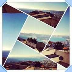 una vista de mi ciudad desde mi casa
