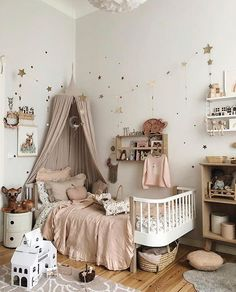 Image in Place collection by Ju. on We Heart It Baby Bedroom, Baby Room Decor, Nursery Room, Girls Bedroom, Nursery Decor, Whimsical Nursery, Kids Room Design, Little Girl Rooms, Nursery Inspiration