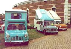 Caused by a brand new relationship with BMW, it's easy to camping on ones own MINI Ruralist by having an Autohome collapsible shelter. Slide In Camper, Camper Caravan, Popup Camper, Truck Camper, Mini Camper, Camper Trailers, Vintage Rv, Vintage Trailers, Hot Rod Trucks