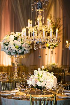 Cody and Meghan Ortowski wedding....beautiful centerpiece with chandelier