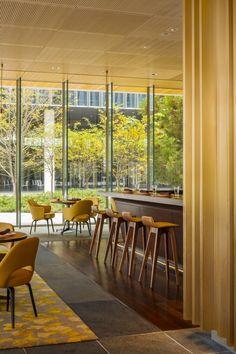 Yellow Saarinen Executive Chairs at the Novartis Campus / Weiss/Manfredi