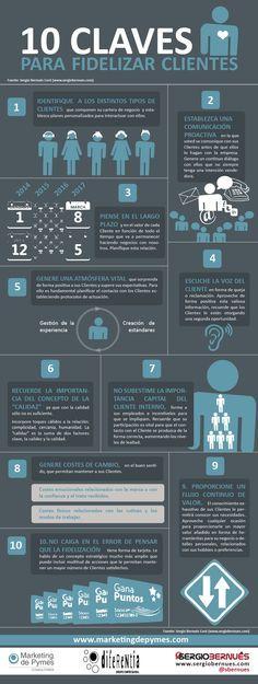 10 claves para fidelizar clientes #infografia