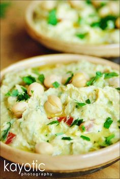 Hummus – This is one seriously creamy hummus with lots of crispy spring onions and fresh, juicy tomatoes.