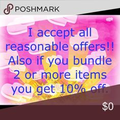 """Make me an offer! I will accept all reasonable offers through the """"offer"""" button. Also feel free to bundle items to get 10% off your purchase and to save on shipping! Other"""