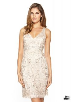 b79f295136e On ideel  SUE WONG Lace Overlay V-Neck Dress New Years dress - got the  black and the champagne and can t decide on which yet.