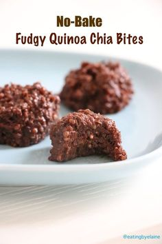 No-Bake Fudgy Quinoa-Chia Bites | Eating by Elaine
