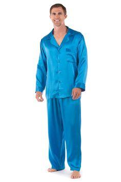 TLC costume: T-Boz! Men's Classic Silk Pajama Set (The Riviera) Luxury Sleepwear by TexereSilk at…