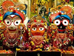 Jagannath Balaram and Subhadra - idols at Puri jagannath Temple