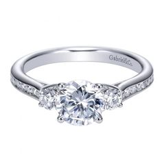 1.42cttw 3-Stone Plus Diamond Engagement Ring with Channel Set Side Diamonds