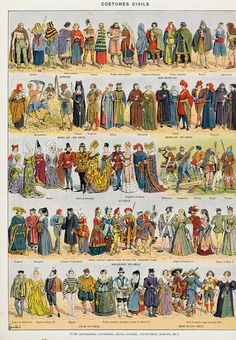 The artwork Pictorial history of clothing in Ancient Gaul and in France up to the beginning of the seventeenth c - Louis Bombled we deliver as art print on canvas, poster, plate or finest hand made paper. History Timeline, Weird Fashion, Canvas Prints, Art Prints, Diy Wall Decor, Historical Clothing, Fashion History, A4 Poster, Poster Size Prints