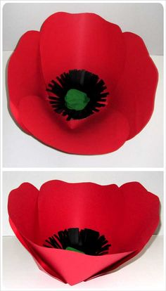 Freepoppypaperflowertemplates paper flowers pinterest 3d maybe not so big then add shading on red paperant paper red poppy mightylinksfo