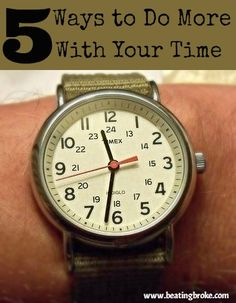 Do more with your time, do more with your money!