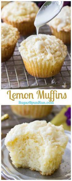 Lemon Muffins - Sugar Spun Run