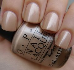 OPI Sand in my Suit. Just found this shade and it is the perfect nude color Love it!