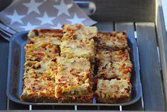 Kanapeet: Tex mex jauhelihapiirakka - uunipellillinen Savoury Baking, Lidl, Tex Mex, Street Food, Finger Foods, Lasagna, Quiche, Banana Bread, Goodies