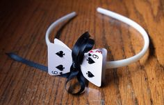 alice in wonderland playing cards   Alice in Wonderland Playing Card Headband by seamstrocity on Etsy