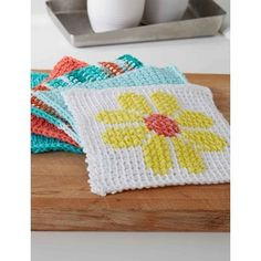 Today's inspiration comes from Yarnspiration. This beautiful Tunisian Simple Stitch Dishcloth by Yarnspiration is perfect for any beginner. It's very pretty and it's consider to be the perfect intro to Tunisian crochet. This simple stitch dishcloth is stitched in Lily Sugar'n Cream. I love the look of this dishcloth and the flower cross stitch in …