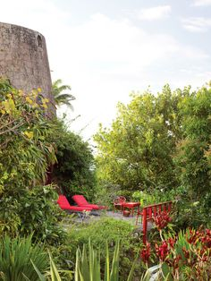 A windmill built in 1815 is now a duplex guest room called the Sugar Mill, with its own patio.