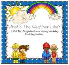 Weather Unit Includes Science, Writing, Math, Vocabulary and Real Pictures for all of your students weather needs.  ~Item Description~This unit includes 65 pages of all weather studies.  Lots of writing, science, vocabulary and great pictures to go with this unit.