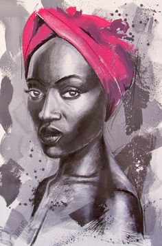 Lady with turban #21 by werner Smith