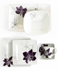 Laurie Gates Dinnerware, Anna Plum Collection  Macy's